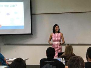 speaker christina aldan speaking at desert code camp tech conference