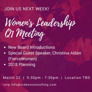 Q1 women's leadership
