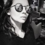 Christina Aldan Black and White Selfie
